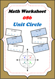 Math Worksheet 0086 - Unit Circle Sine Cos Tan positive negative or neutral