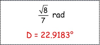 Math Worksheet 0088 - Change radians to degrees and degrees to radians.