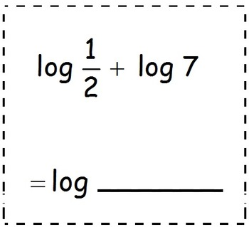 Math Worksheet 011 - LogAB = LogA + LogB