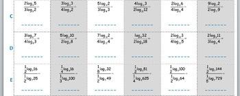 Math Worksheet 014 - Log change of base formula