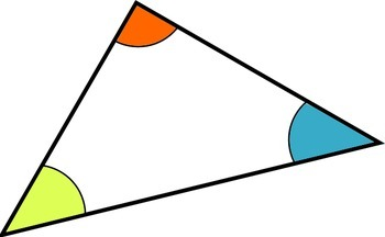 Math Worksheet 039 - Angles of a triangle = 180°.