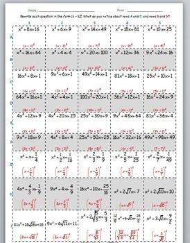 Math Worksheet 048 - Sum of two squares