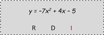Math Worksheet 064 - Roots of quadratic equations: real, double or imaginary.