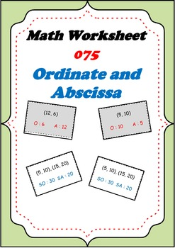 Math Worksheet 075 - Ordinate and Abscissa