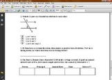 Math Worksheet - Angles/Interest/Parallel Lines