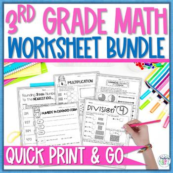 math worksheet bundle pack  rounding multiplication division  math worksheet bundle pack  rounding multiplication division  fractions