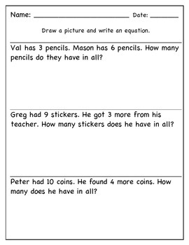 Math Worksheet Practice Pages