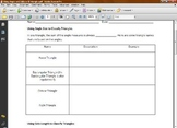 Math Worksheet - Using Angles to Classify Triangles
