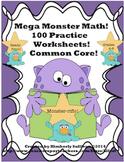 Spring Break review Math Printables! 100 worksheets! GRADES 4 - 6