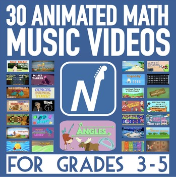 30 Math Song & Music Video Animations [HD 720p] - For 3rd-5th Grade