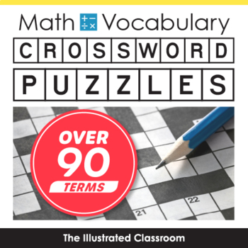 Math Worksheets - 5th Grade Math Vocabulary Crossword Puzzles | TpT