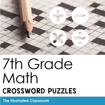 Math Worksheets - 7th Grade Math Vocabulary Crossword Puzzles | TpT