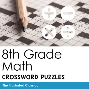 Math Worksheets - 8th Grade Math Vocabulary Crossword Puzzles | TpT