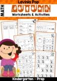 Autumn / Fall Math No Prep Worksheets & Activities