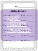 Math Worksheets - Adding Doubles