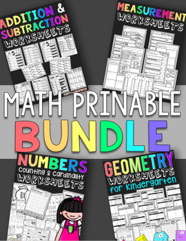 Math Worksheets: Addion, Subtraction, Shapes, and Measurement