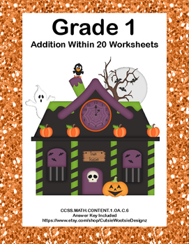 Addition Within 20- Worksheets-CCSS.MATH.CONTENT.1.OA.C.6-