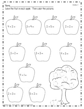 Math Worksheets - Apple Edition