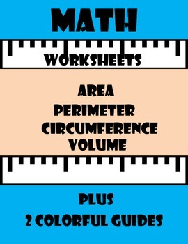 Math Worksheets-Area, Perimeter, and Circumference