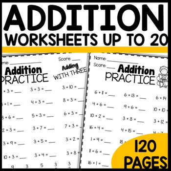 Math Worksheets BUNDLE | Addition | Subtraction | Mixed Review
