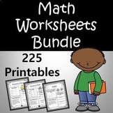 Math Worksheets BUNDLE - Use the Entire Year