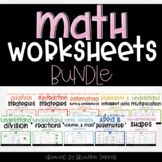 Math Worksheets Bundle