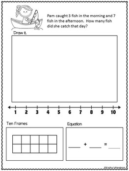 Math Worksheets -Camping Theme