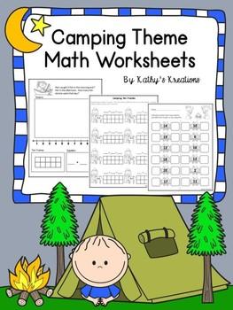 Math Worksheets -Camping