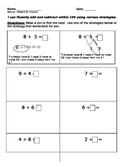 Math Worksheets (Common Core Module 1)