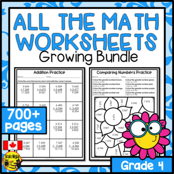 Math Worksheets Grade 4