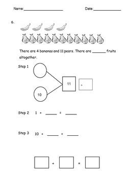 Math Worksheets Grade K-2 Number Bonds Math fact Practice, Problem Solving