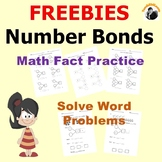 Math Worksheets Grade K-2 Number Bonds Math fact Practice,