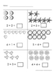 Math Worksheets Grade K or 1 - Easy Addition 1-10 - CCSS -