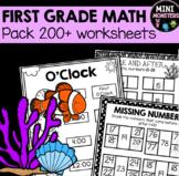 DISTANCE LEARNING First Grade Math Worksheets Bundle