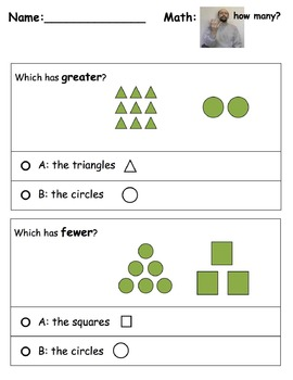 Math Worksheets: How Many? w/ ASL support