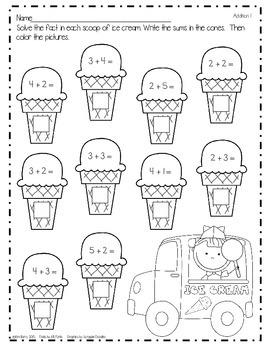 Math Worksheets - Ice Cream Edition