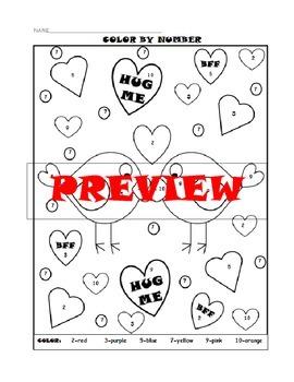 Math Worksheets K-1 (Valentine Theme)