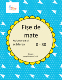 Math Worksheets Addition and Subtraction Numbers 0 - 30 in