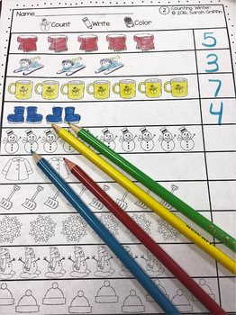 Math Worksheets - Numbers to 10 - Winter