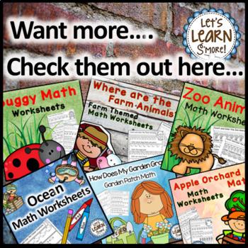 Math Worksheets Sample for Preschool, Kindergarten or First Grade