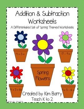 Math Worksheets - Spring Flowers