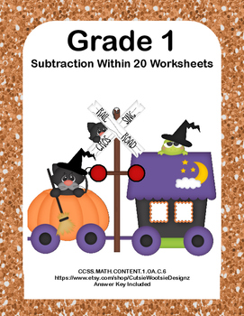 Subtraction Within 20- Worksheets-CCSS.MATH.CONTENT.1.OA.C