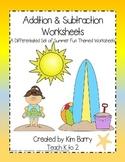 Math Worksheets - Summer Fun Edition