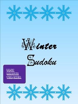 Math Worksheets - Winter Sudoku