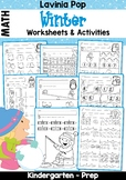 Winter Math Worksheets & Activities No Prep
