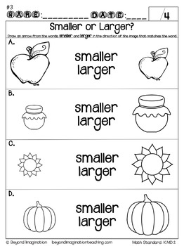 Math Worksheets for Fall Kindergarten