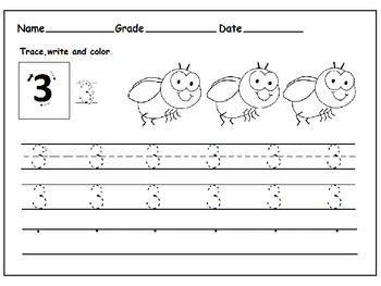 Math Worksheets for Kindergarten: Number 1-10