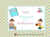 Math Worksheets for Kindergarten: Number 1-10