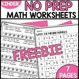 Math Worksheets for Kindergarten FREEBIE