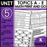 Math Worksheets for Kindergarten [tens and ones, counting up and down]